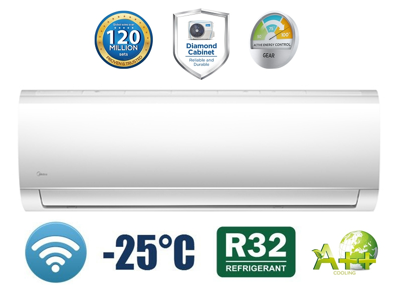 Poza Aer conditionat Midea Blanc - 12000 btu - MA-12NXD0 / MA-12N8D0, Inverter WiFi Inclus 1